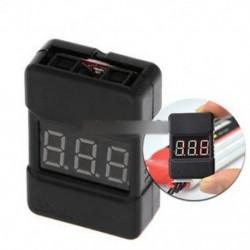 BX100 1-8S Lipo Li-ion akkumulátor feszültségmérő Monitor alacsony feszültségű zümmögő riasztás