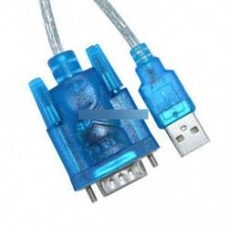 USB - RS232 soros port 9 pin DB9 kábel soros COM portadapter átalakító kék
