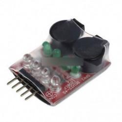 2S-4S Cell Lipo akkumulátor Kettős hangszóró Alacsony feszültségű riasztás hangjelző 7,4V-14,8V