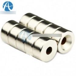 10db N50 erős lemez neodímium mágnesek 10 x 5 mm-es lyuk 3m ritkaföldfüggő