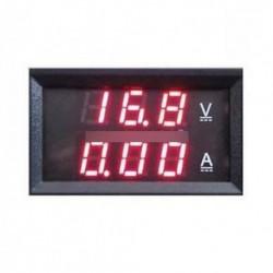 Mérőmérő 10A LED digitális Volt Amp Voltmérő Dual 0-100V Red DC Panel
