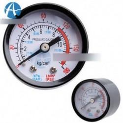 1/8 BSP menetes menet 0-12Kg / cm2 0-180PSI légkompresszor nyomásmérő fekete doboz