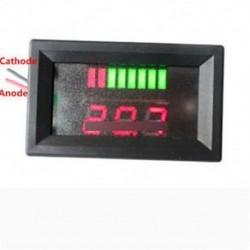 12V ACID ólom akkumulátor kapacitás jelző töltés szint LED tesztelő vörös feszültségmérő