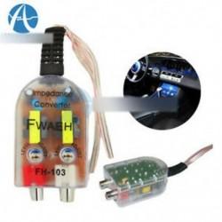 Szintű autós hangszóró Magas és alacsony impedanciás konverter 2 csatornás RCA vonal ki