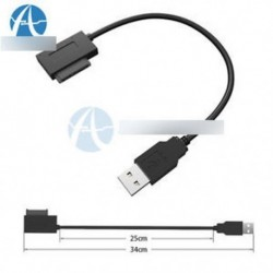SATA Slimline - USB 2.0 adapterkábel laptop CD-hez DVD Rom Drive 7   6 13Pin