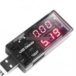 Orvosáram-feszültség töltés USB töltő érzékelő akkumulátor-mérő feszültségmérő