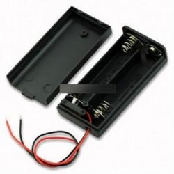 5PCS 2A akkumulátor tartó doboz tok ON / OFF kapcsolóval és fedéllel 2AA akkumulátorhoz