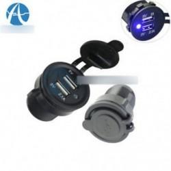 12-24V Dual USB port autós töltő Hálózati adapter Splitter cigarettagyújtó aljzat