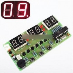 C51 6 bites digitális elektronikus óra elektronikus gyártási csomag DIY készletek