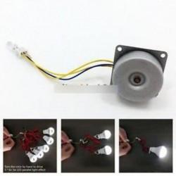 AC 3 fázisú kefe nélküli generátor mini szél kézi generátor motor 3-24V DIY
