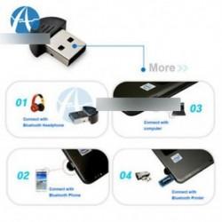Bluetooth 2.0 adapter - USB 2.0 3.5 mm-es jack vezeték nélküli Bluetooth zenelejátszó mono audioadapter-kábel