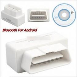 Mini ELM327 V2.1 OBD2 II Bluetooth diagnosztikai fehér autós interfész szkenner