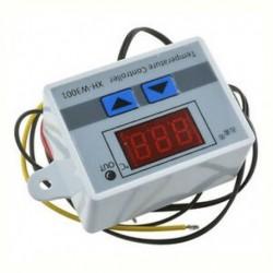 12 V fehér - 12V / 24V / 220V digitális LED hőmérséklet szabályozó termosztát vezérlő kapcsoló szonda