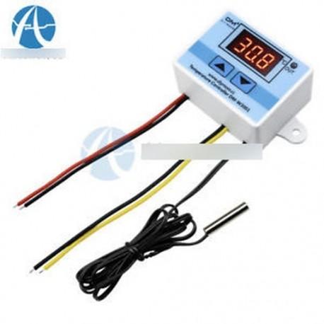 AC 220V W3001 LED hőmérsékletvezérlő 10A termosztátvezérlő kapcsoló szonda