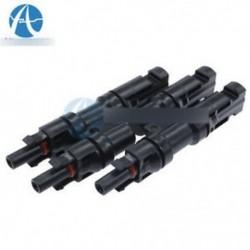 1 páros MC4 adapter női férfi Y ágú T ági csatlakozó a napelemhez