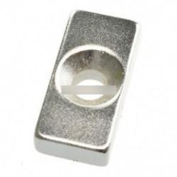 10PCS szuper erős neodímium mágneses lyuk ritka föld N50 fokozatú 20x10x5mm