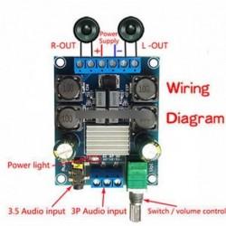 TPA3116 D2 50W   50W kétcsatornás DC4.5-27V digitális teljesítményerősítő 50Wx2 sztereó