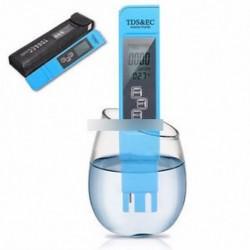 Kék EC-1 vízminőségi tesztmérő Digitális eszköz TDS és EC hőmérséklet 0-9990 ppm
