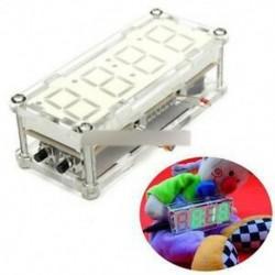 Zöld LED elektronikus óra mikrokontroller óra idő hőmérő DIY készlet