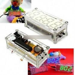 DIY Kit piros LED elektronikus óra mikrokontroller digitális óra idő hőmérő