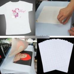 10PCS póló Nyomtatás vasalható hőátadó papírlapok sötét / világos ruhával Új