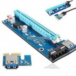 USB 3.0 PCI-E 1x-16x-os tápegység-bővítő adapter kártya a Bitcoin kábelhez