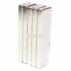 5PCS Big Strong blokk bár hűtőszekrény mágnesek 40x10x4mm ritka föld neodímium N52 Új