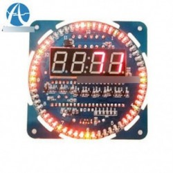 Szerelt DS1302 forgó LED elektronikus digitális óra 51 SCM Learning Board 5V