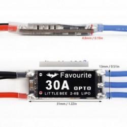 Kis Bee 20A / 30A / 40A 2-4S 2-6S LiPo erőszakos OPTO ESC elektromos fordulatszám-szabályozás