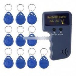 125KHz-es kézi RFID-író / másoló / olvasó / sokszorosító 10PCS azonosító címkével