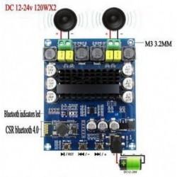 TPA3116D2 120Wx2 vezeték nélküli Bluetooth 4.0 hangvevő digitális erősítő panel