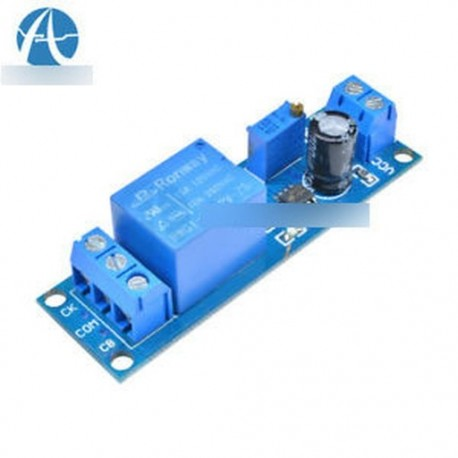 10PCS 12V késleltetés időzítő kapcsoló Állítható relé modul 0 - 10 másodperc NE555 modul