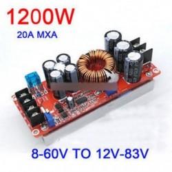 1200W 20A DC átalakító Az autó fokozatos tápellátási modulja 8-60V-tól 12-83V-ig