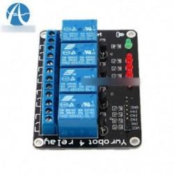 5PCS 5V négycsatornás relévédő modul PIC AVR DSP ARM MSP430 Arduino-hoz