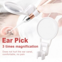 Háromszoros nagyító hordozható gyermekek  ragyogó fülbevaló fülek Dig Earwax kiegészítők