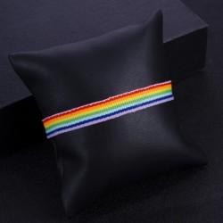 Vintage kötél szivárvány lánc charm karkötő Gay Pride karkötő Barátság divat karkötő