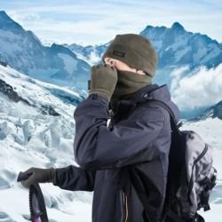 Új, 3 darabos téli kalap sál kesztyű szabadtéri sporttúra tábor meleg polár ruha