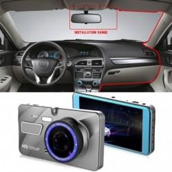 4 hüvelykes, 2,5des kettős lencsés autós DVR HD 1080P műszerfal kamera felvevőGérzékelő cink ötvözet