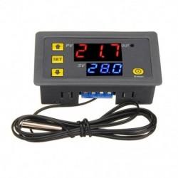 W3230 DC 12V, 24V, 110V220V váltóáramú digitális hőmérsékletszabályozó LED kijelző termosztát fűtési hűtési