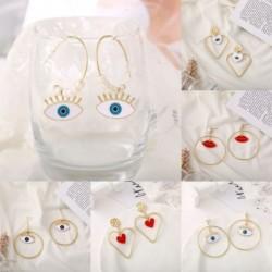Női Retro Eye szerződött punk fülbevaló Női hullám luxus geometriai függő fülcseppek ékszer ajándék