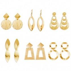 Női fémszerkezetű fülbevaló női hullám luxus geometriai arany lógó fülcseppek ékszer ajándék