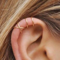 kreatív fülbevaló színes, áttört fül nélkül láthatatlan füldugók Clamp divatos női ékszer