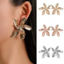Elegáns ötvözetből készült, nagy ötágú fülbevaló  eltúlzó fülbevaló  divatos fém virágosfélékszer ékszer