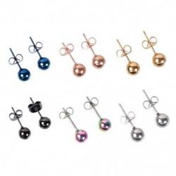 Allergiaellenes mini méretű 5mm / 6mm gyöngyök fülbevaló színes fülbevaló napi dekoráció