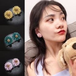 Kpop divatos százszorszép virágos fülbevaló ötvözet spray spray festékkel díszes fülbevaló női ékszer