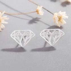 Vintage geometriai háromszög fülbevaló gyémánt alakú csavarral, friss, fényes ékszer lány ajándékba