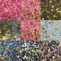 1cm 10g / táska Vegyes színek konfetti kerek szövet esküvői karácsony konfetti pont kitöltése léggömbök