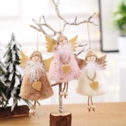 Új karácsonyi dekorációk medál karácsony aranyos plüss angyal karácsonyfa kreatív medálok