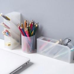 Többfunkciós 4 rácsos asztali tároló doboz tok, amely kozmetikai tartóval íróasztal ceruzaszervezőt alkot