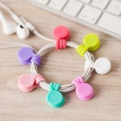 3 db / csomag fülhallgatókábelcsévélő USBkábelszervező klipek Többfunkciós tartós mágneses fejhallgatócsévélő